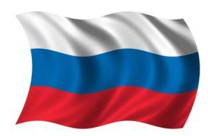 Fahne von Russland